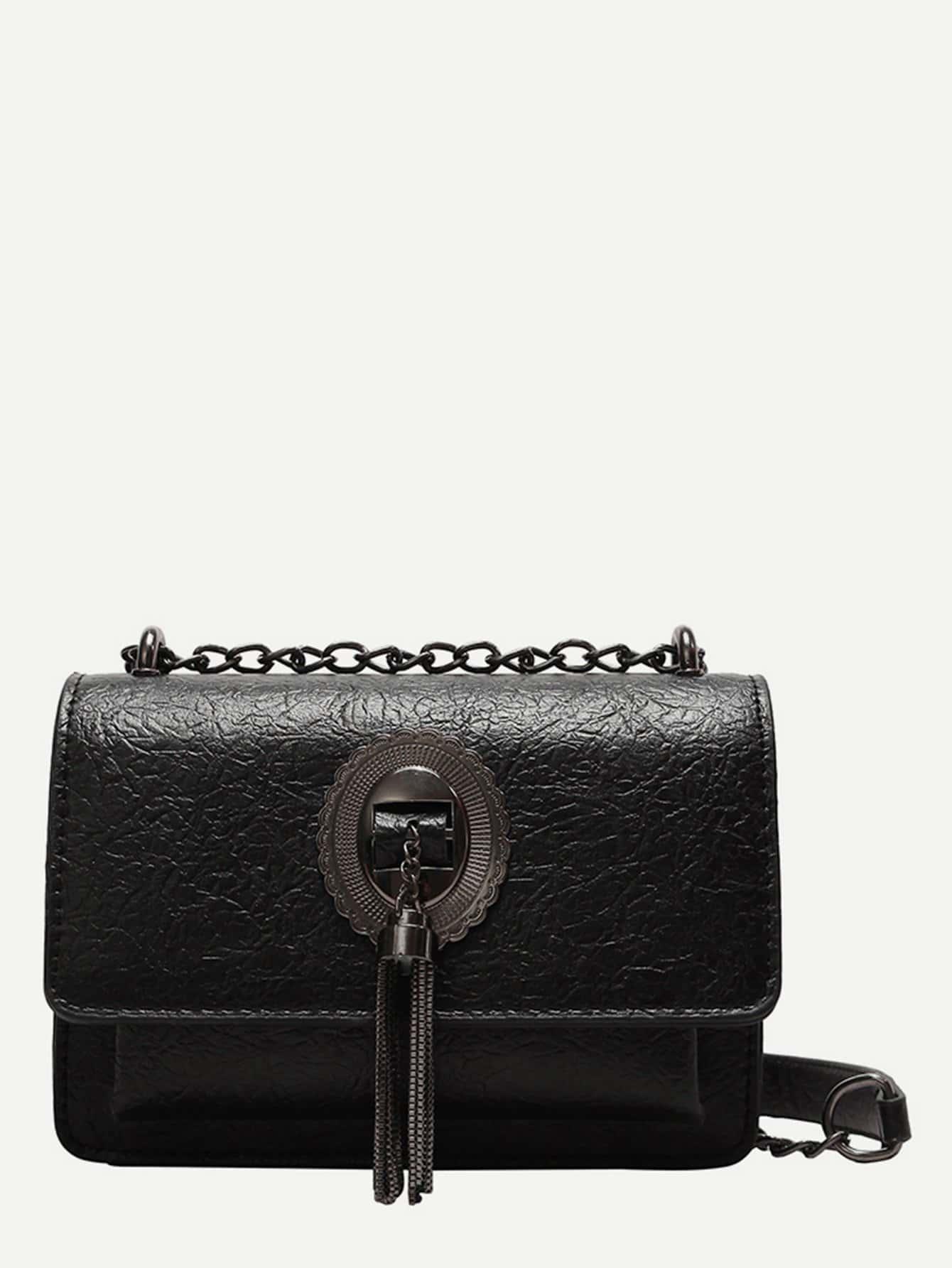Tassel Detail Chain Bag tassel detail bucket bag