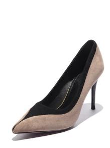 Point Toe Suede Stiletto Heels