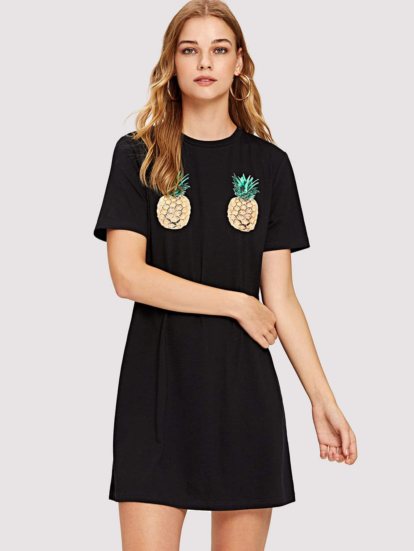 Купить Симметричное платье для танец с ананасом, Teresa, SheIn