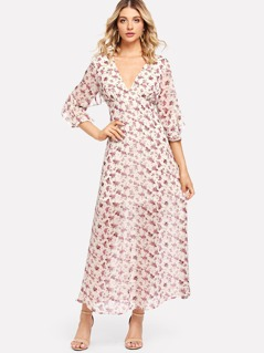 Calico Print Flowy Dress
