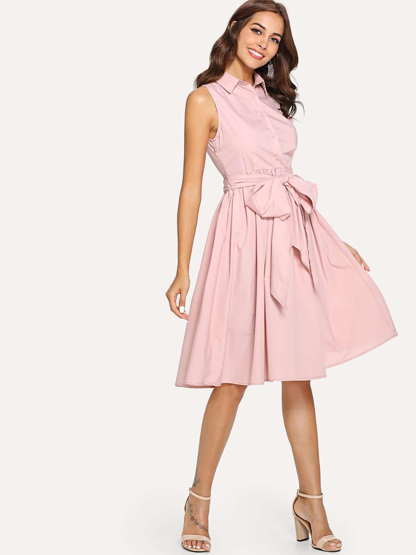 Купить Платье с коротким рукавом, Giulia, SheIn