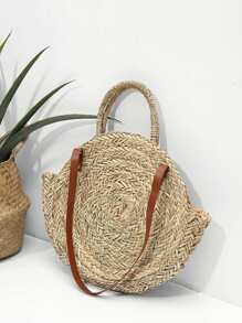 Woven Bag With Convertible Strap