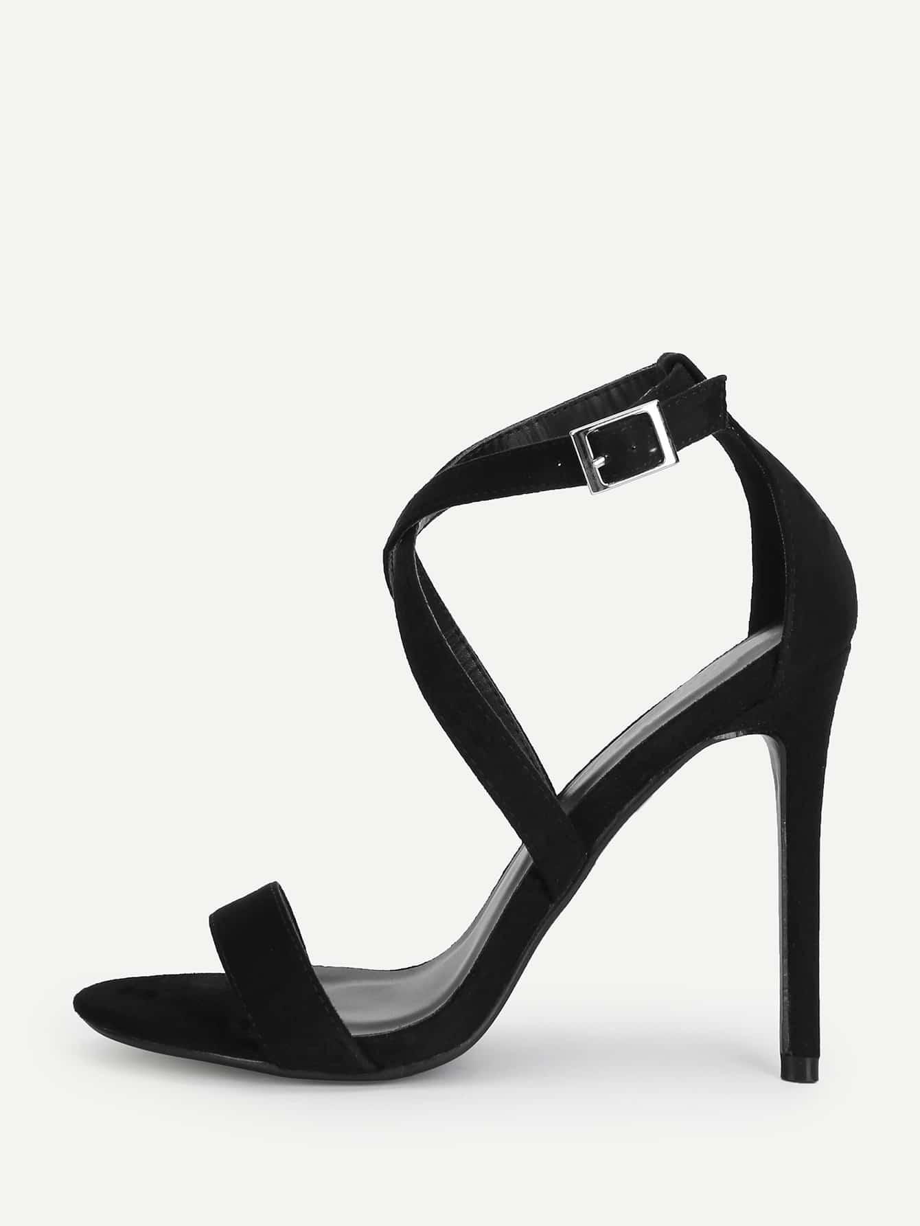 Peep Toe Criss Cross High Heels