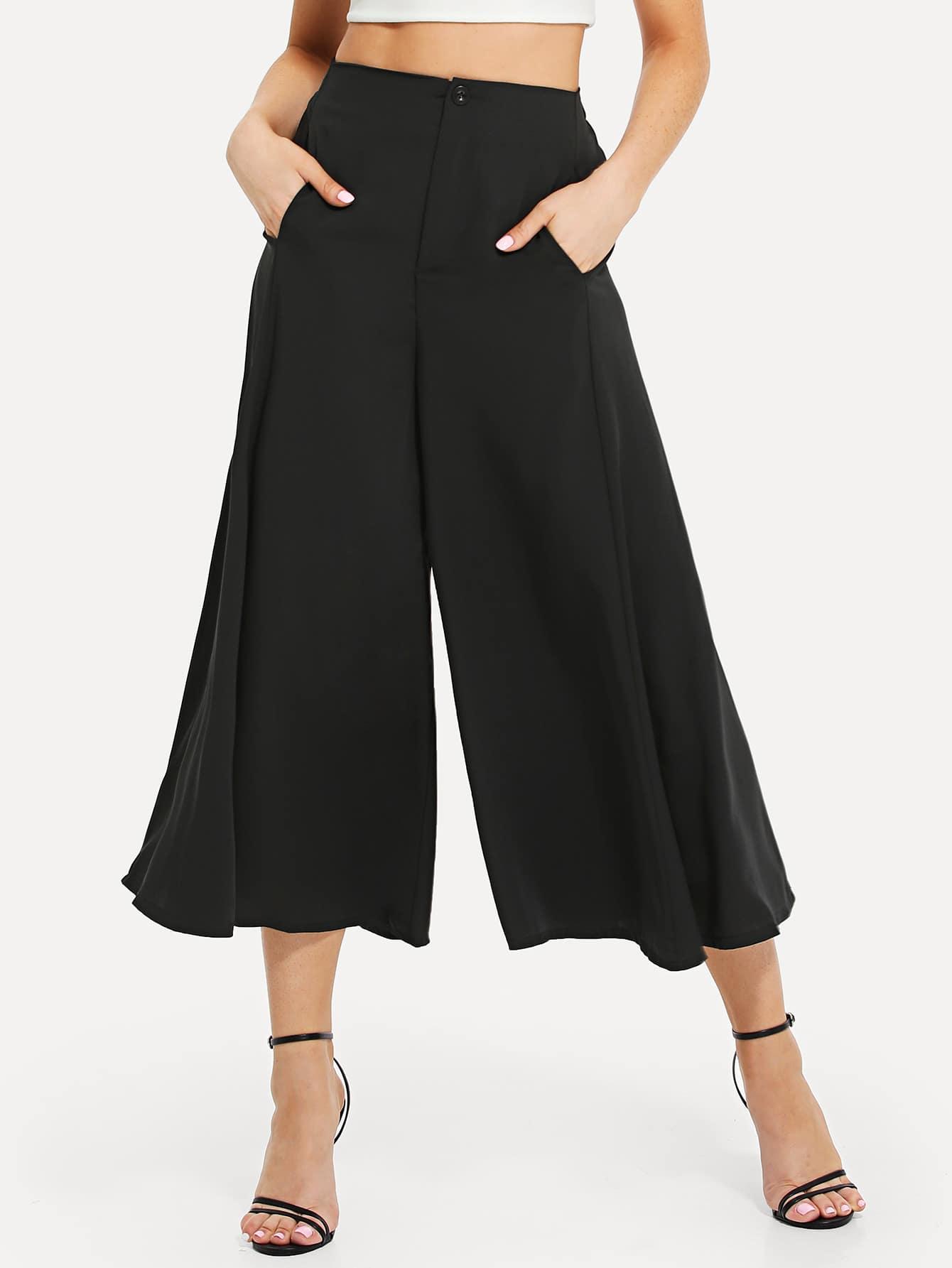 Solid Culotte Pants spot culotte pants
