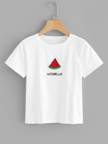 Watermelon Embroidery Tee