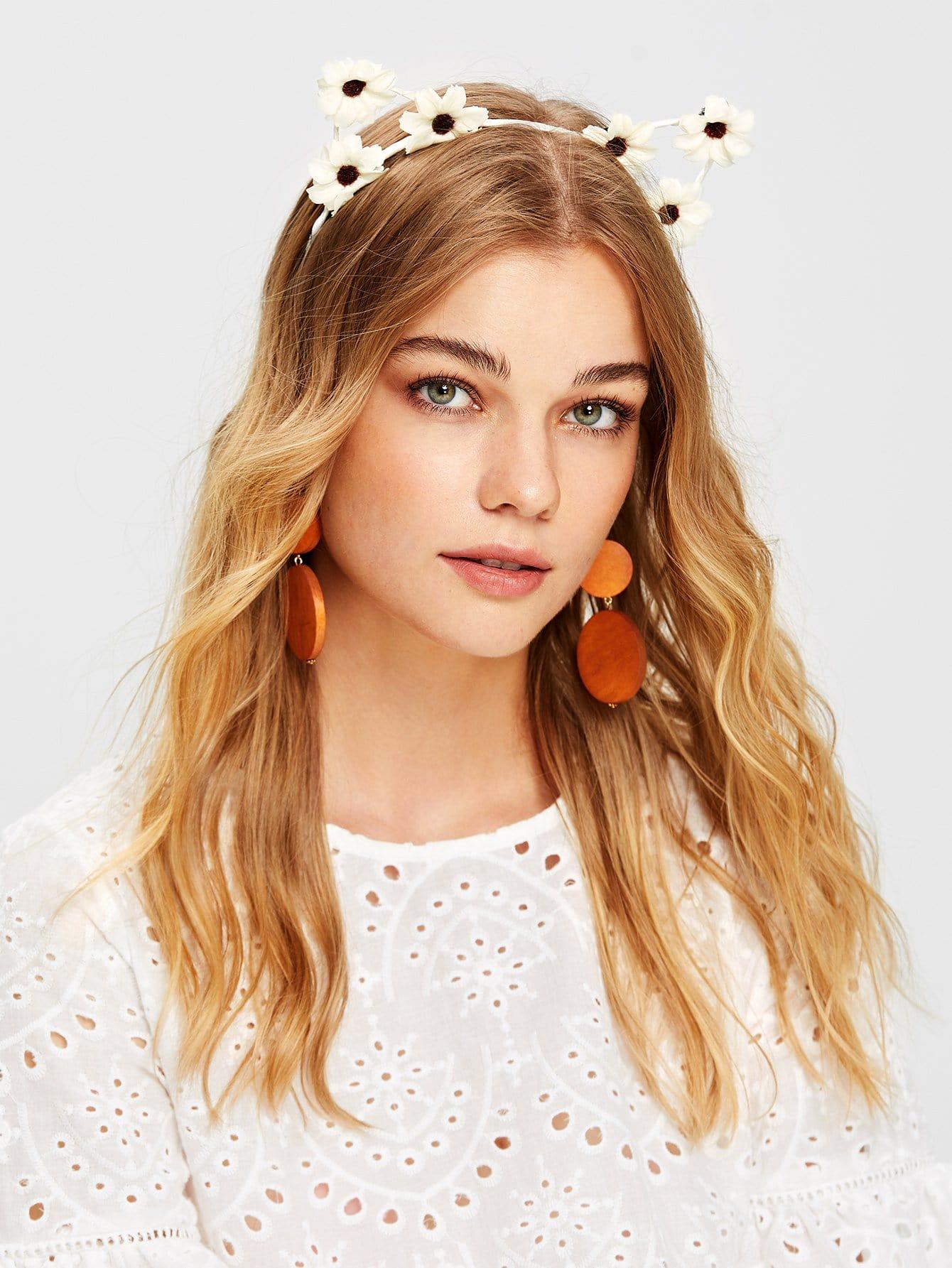 Flower Decorated Headband crown decorated headband