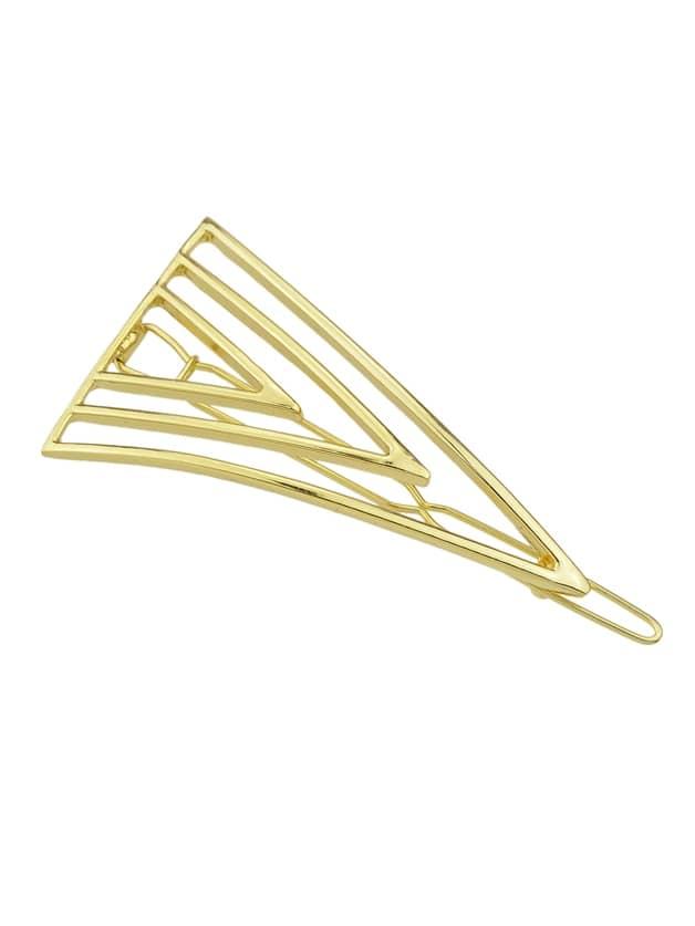 Золото Золото Серебро Цвет Треугольник Форма Большой Заколки Для Волос Ювелирные Изделия