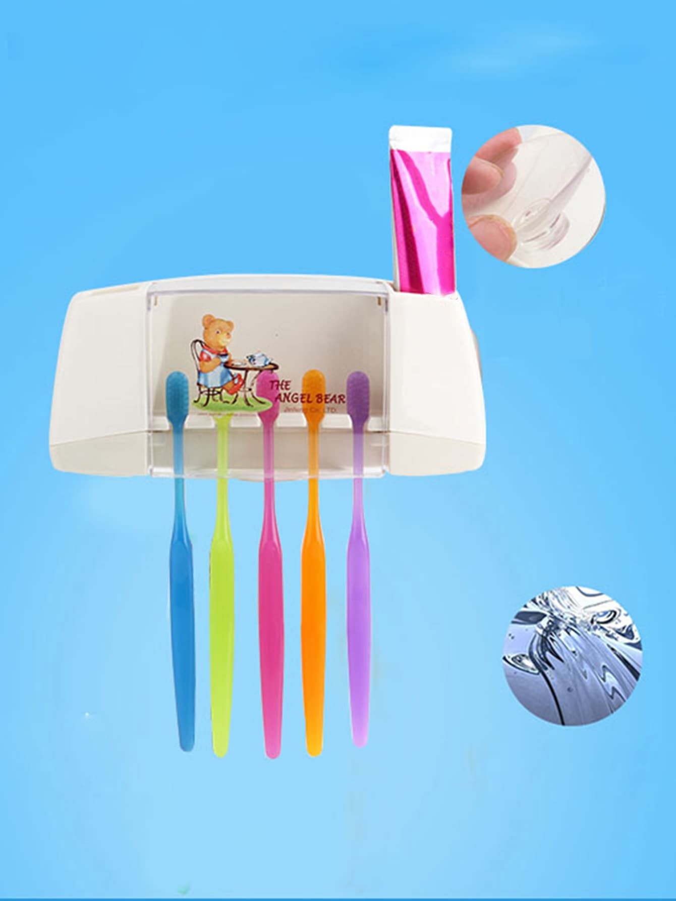 Suction Cup Toothbrush Rack foldable cup rack