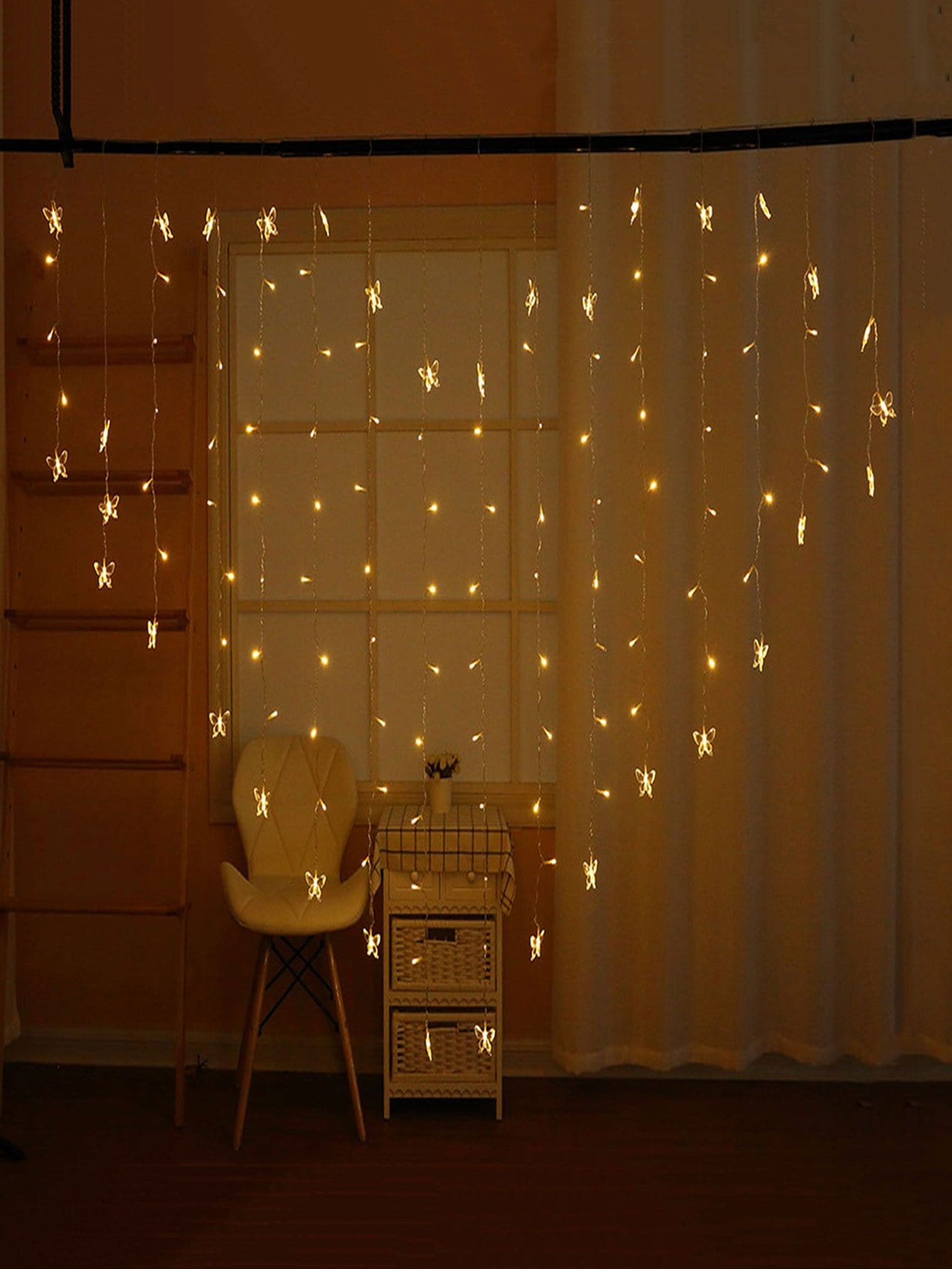 128pcs Bulb Heart Shaped String Light