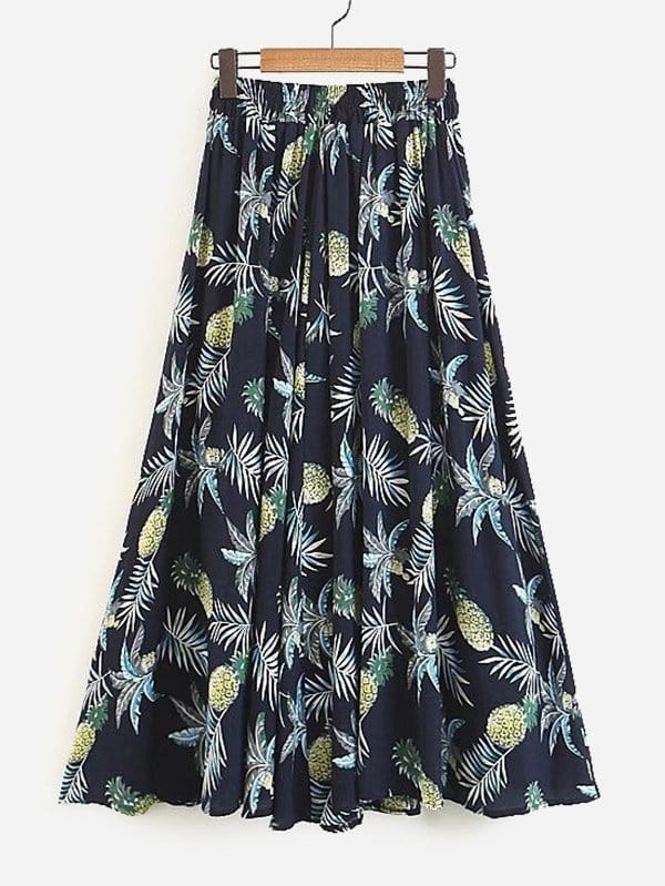 Foliage Print Skirt