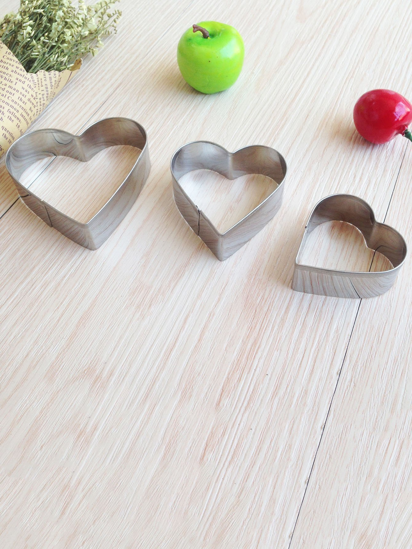 Heart Cookie Mold 3pcs dough cutter mold 3pcs