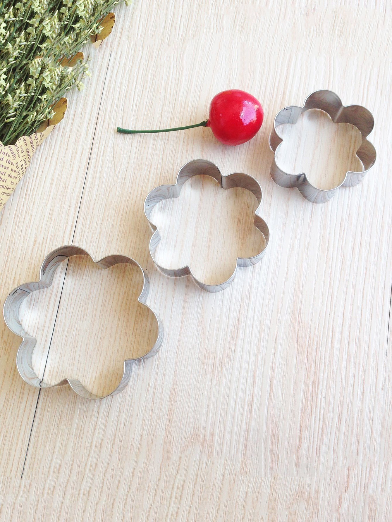 Flower Cookie Mold 3pcs dough cutter mold 3pcs