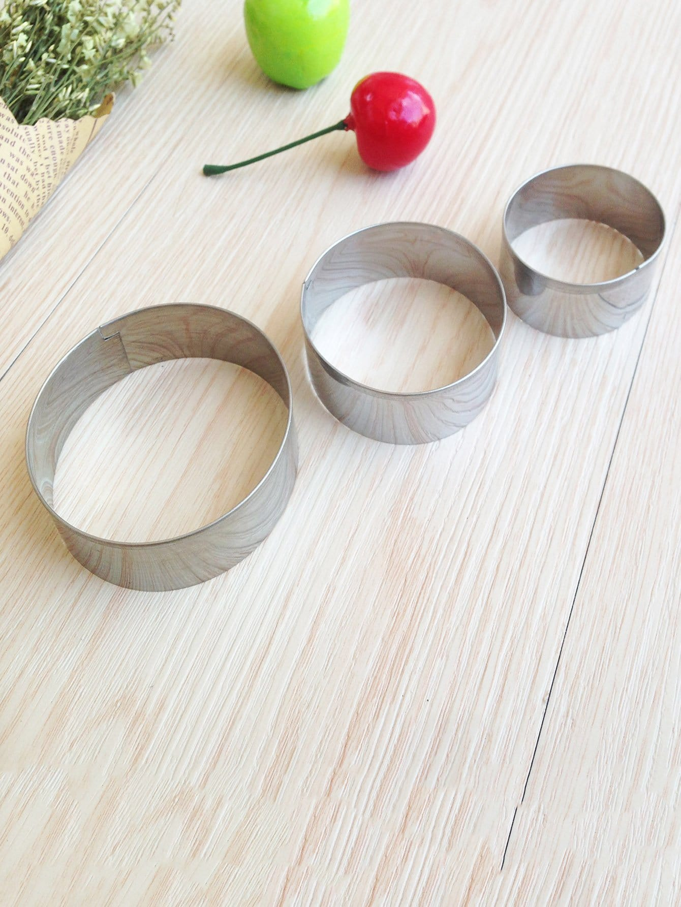 Round Cookie Mold 3pcs dough cutter mold 3pcs