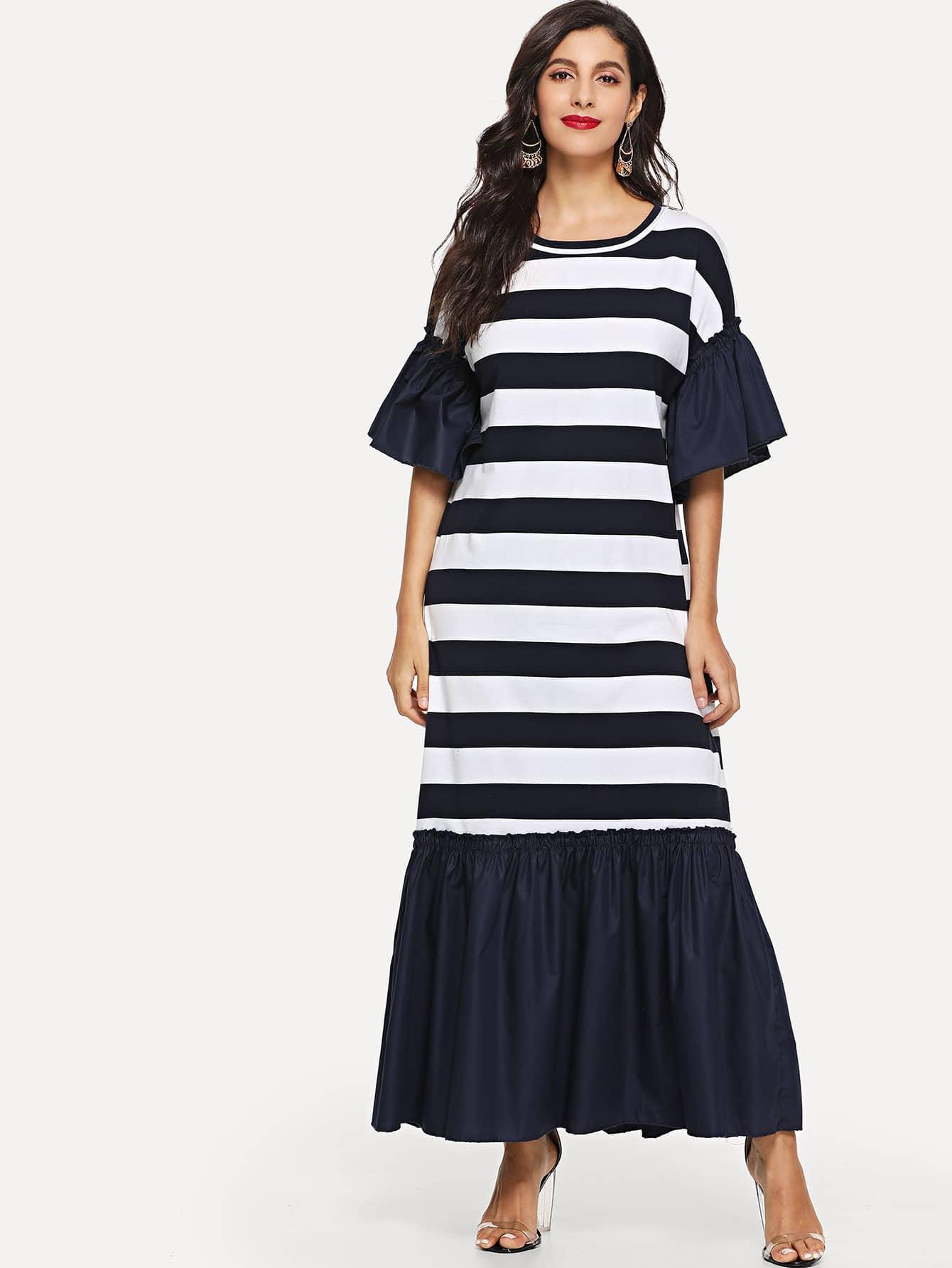 Купить Платье с длинными рукавами с широкой полосой, Jeane, SheIn