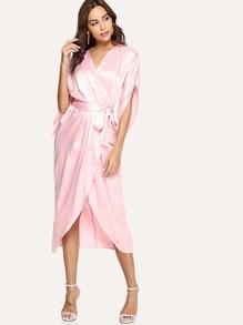 Wrap Tie Waist Kimono
