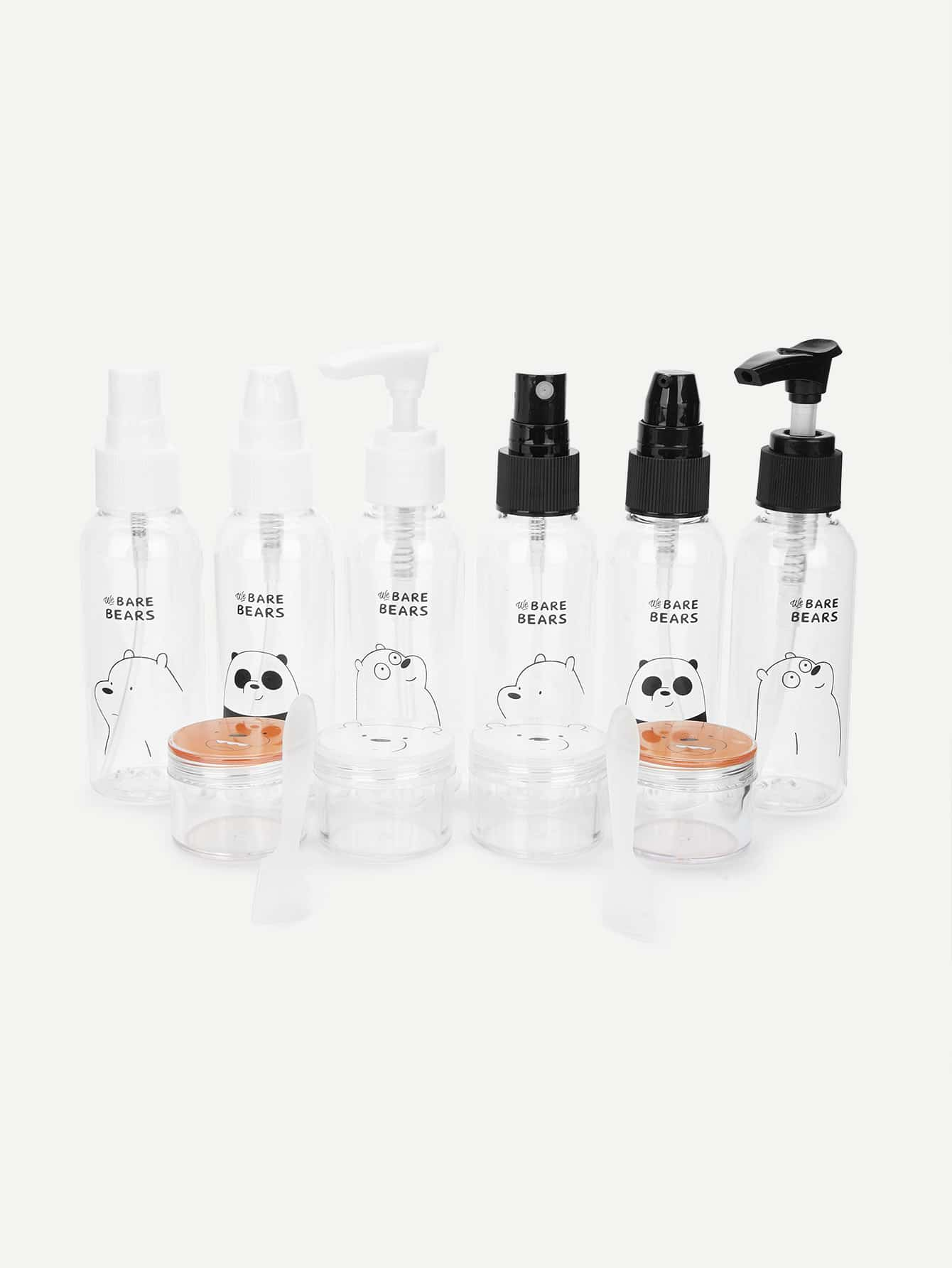 Купить Случайная цветная бутылка для путешествий с принтом мультяшным 6 шт, null, SheIn