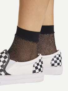Glitter Net Socks