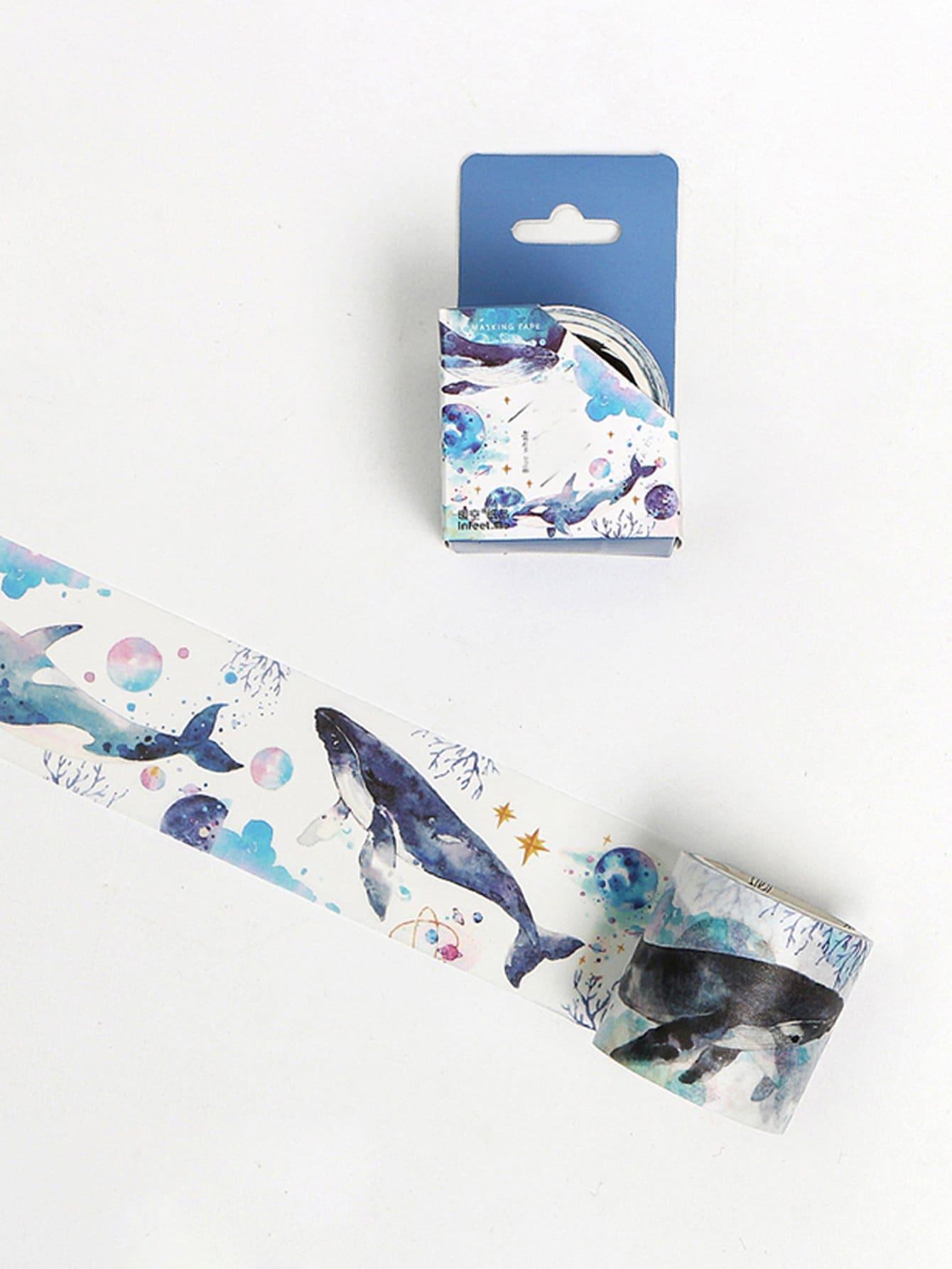 Whale Print Masking Tape