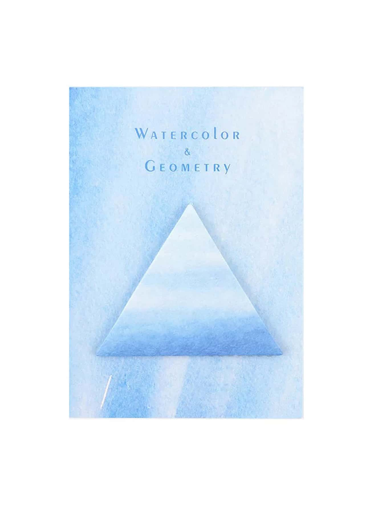 Triangle Watercolor Memo Sticker 30sheets lucide 31233 01 41