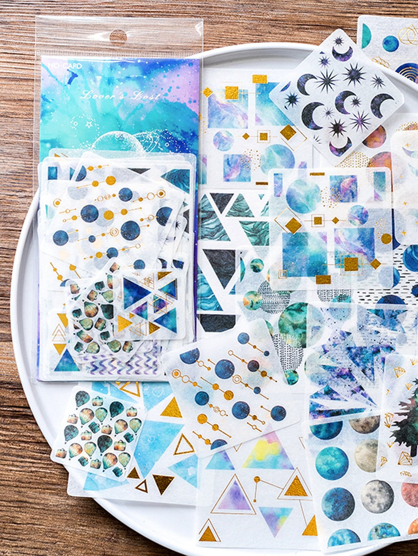 Multiple Shapes Planet Sticker 60Sheets autonomic diffusion spray routing with multiple copies