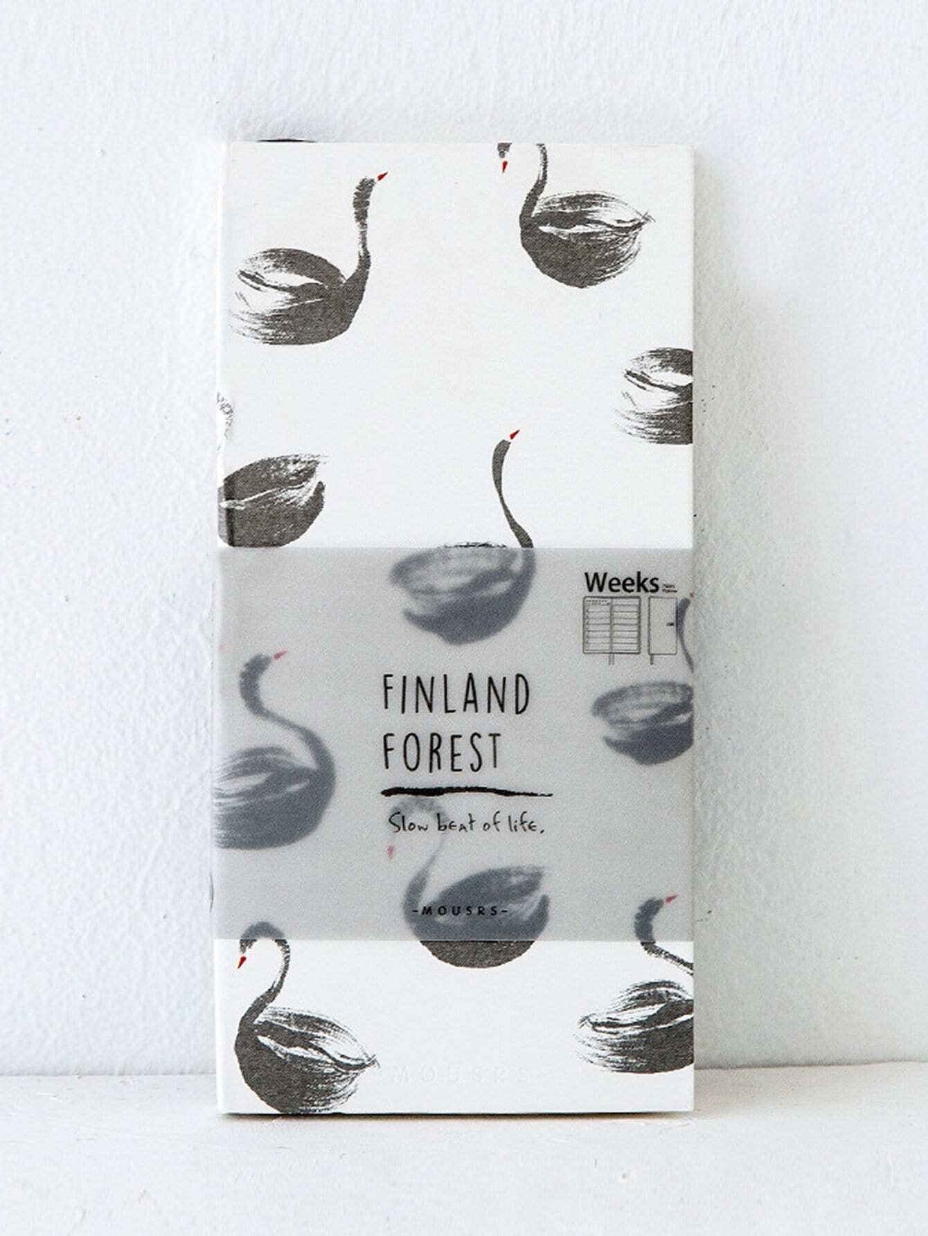 Swan Covers Notebook 160 sheets hardcover notebook 2018 simple 112 sheets a5 planner weekly planner school supplies papelaria office stationery exercise book
