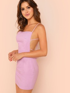 Lattice Back Cami Dress