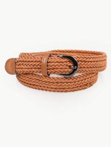 Woven Design Buckle Belt