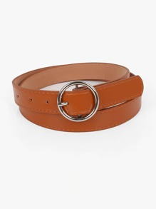 Ring Buckle PU Belt