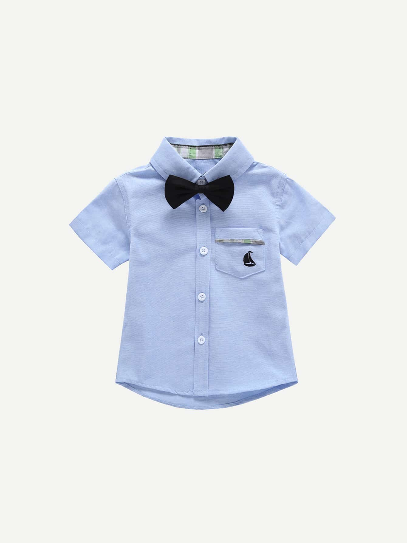 Купить Детская футболка с галстуком, null, SheIn