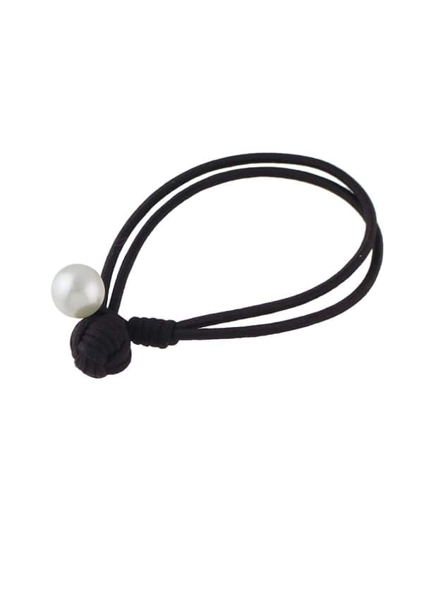 Coffee Colorful Elastic Rope Simulated Pearl Hair Bands Accessories