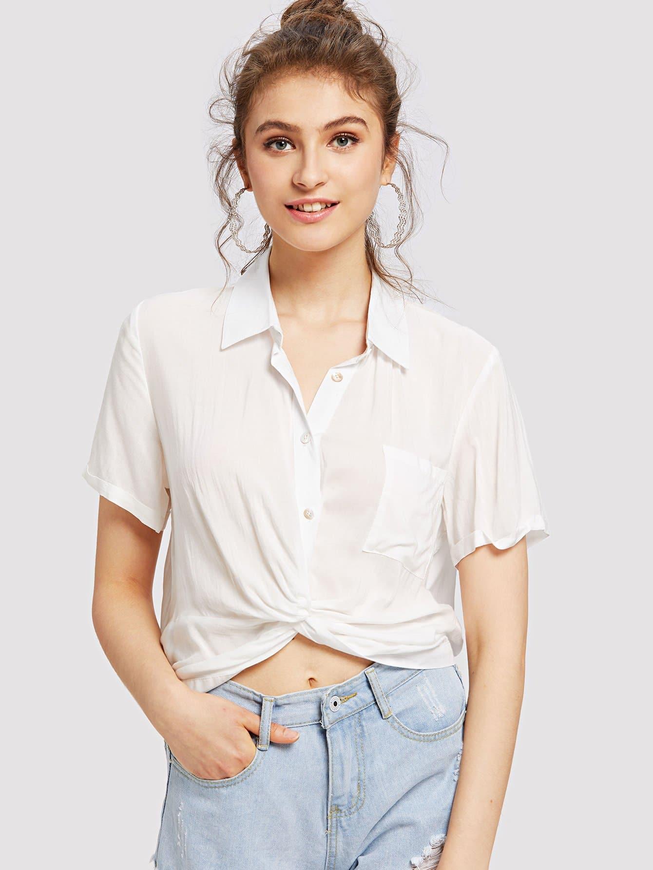 Single Pocket Button Up Shirt button up plaid pocket shirt