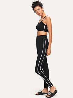 Striped Cami Top & Leggings Set