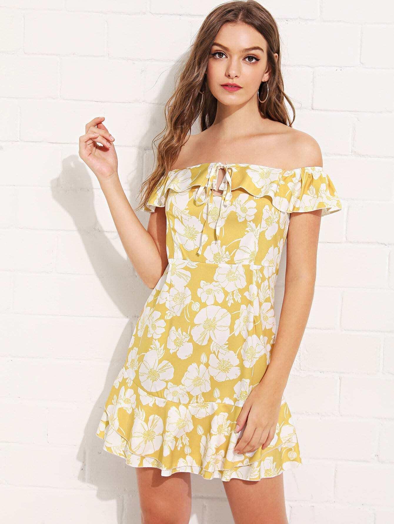 Off Shoulder Tie Neck Floral Dress dual pvc mesh pet dog cat toilet bed pan blue size s