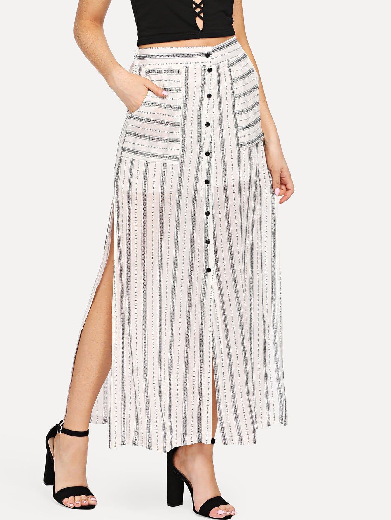 Dual Pocket Split Skirt