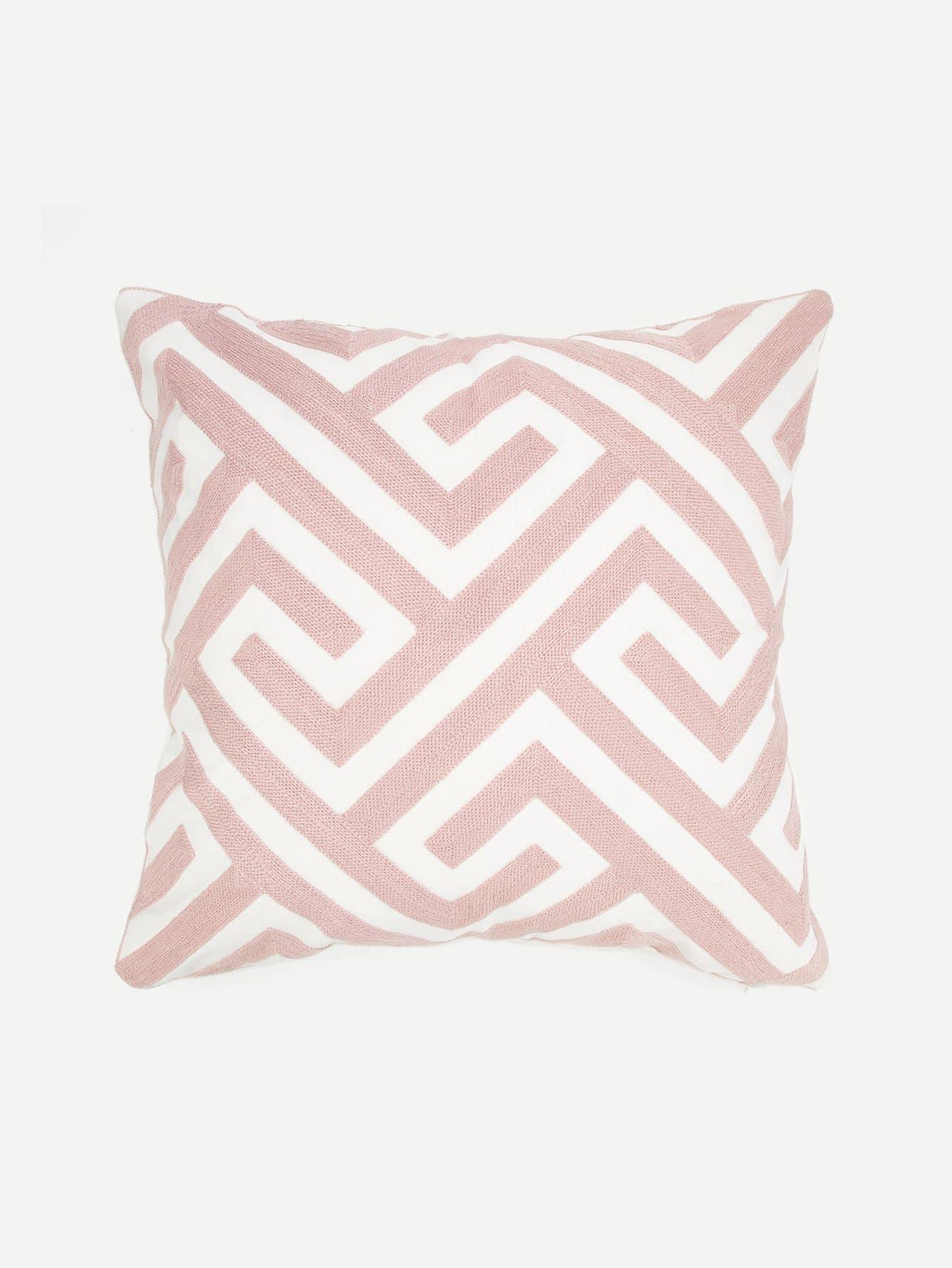 Купить Наволочка для подушка вышивка полоски 1 шт, null, SheIn