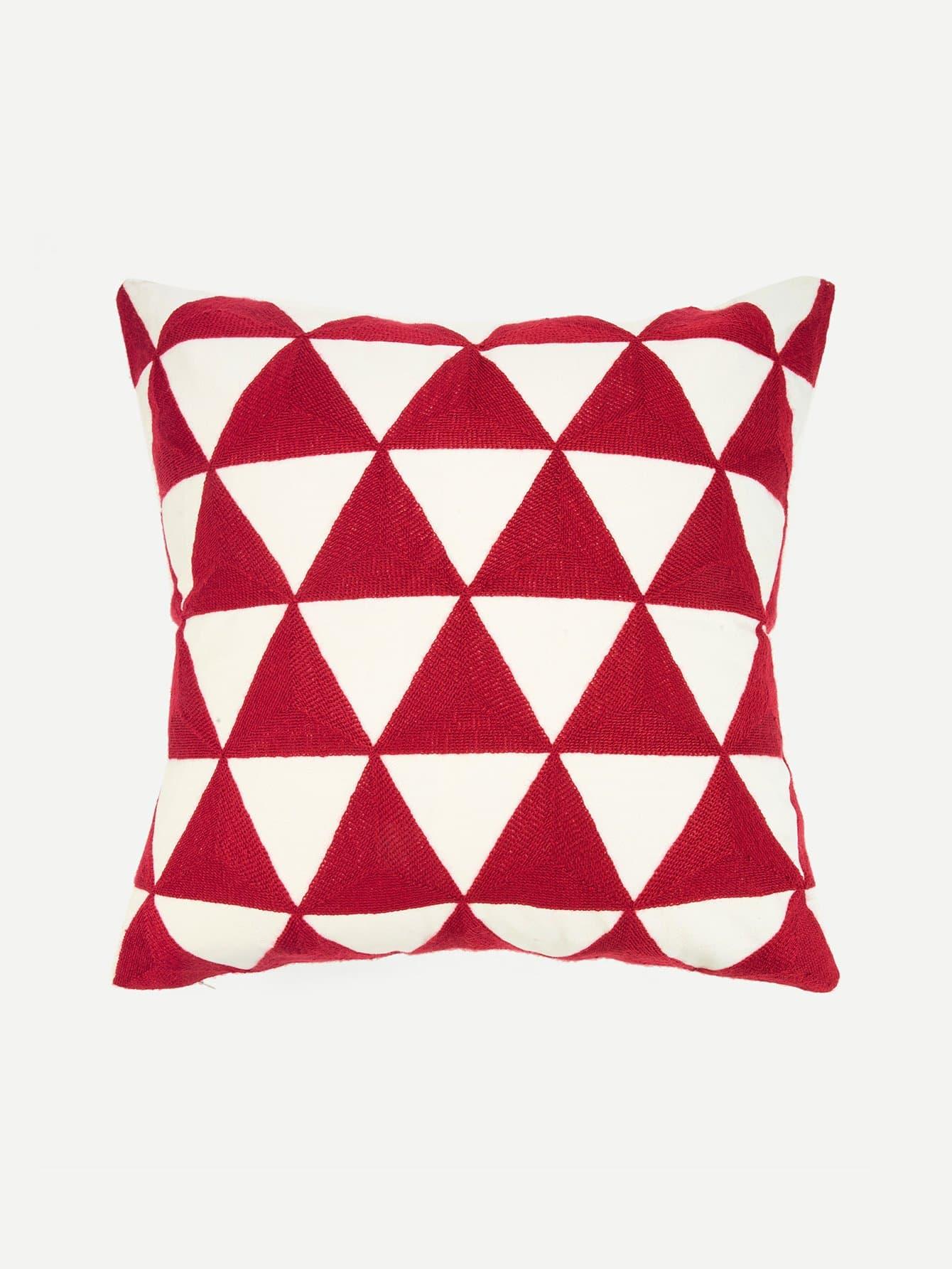 Купить Наволочка для подушка вышивка геометрия 1 шт, null, SheIn