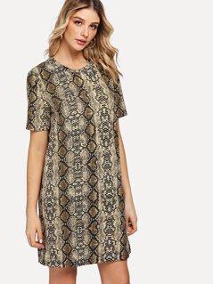 Snake Skin Tunic Dress
