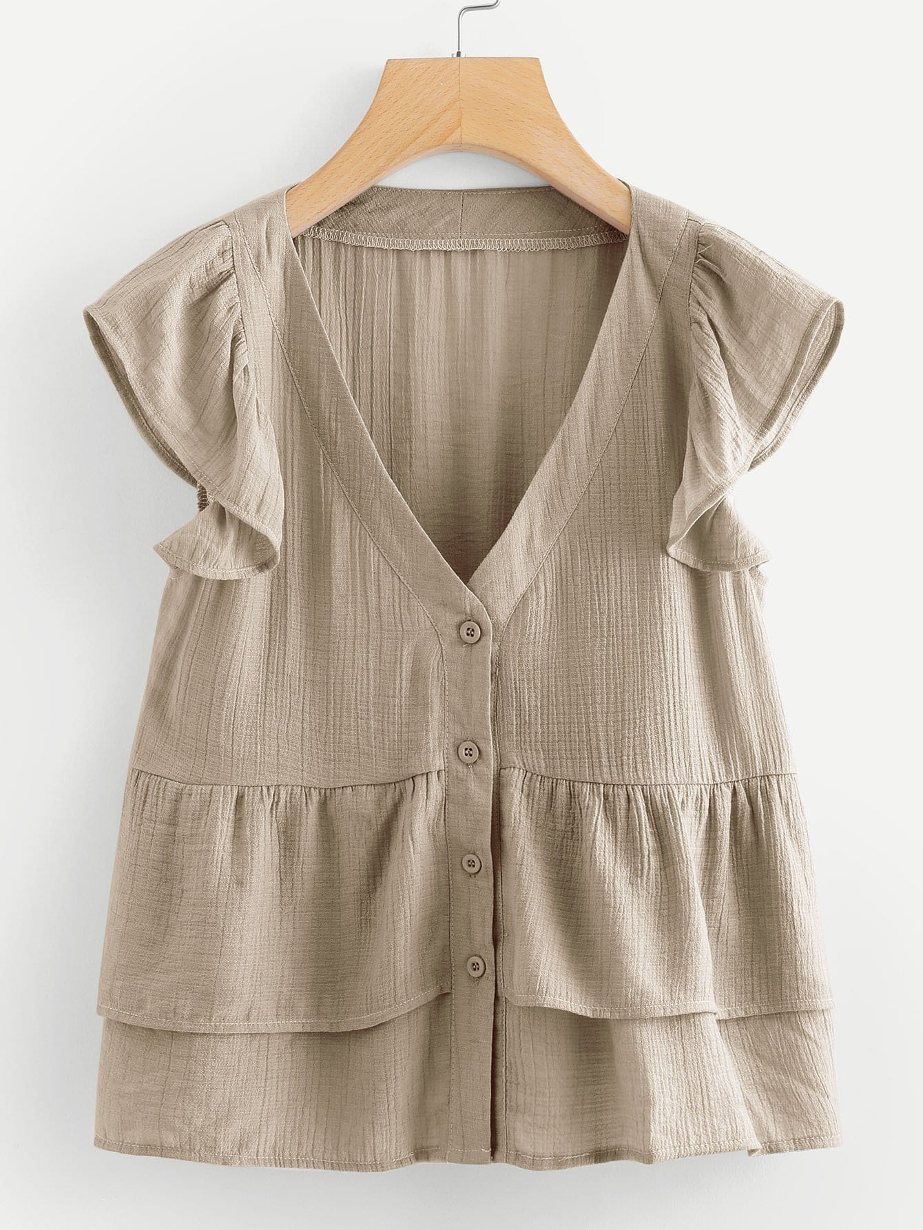 Ruffle Trim Blouse ruffle trim blouse