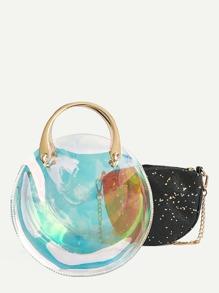 Star Glitter Detail Chain Bag