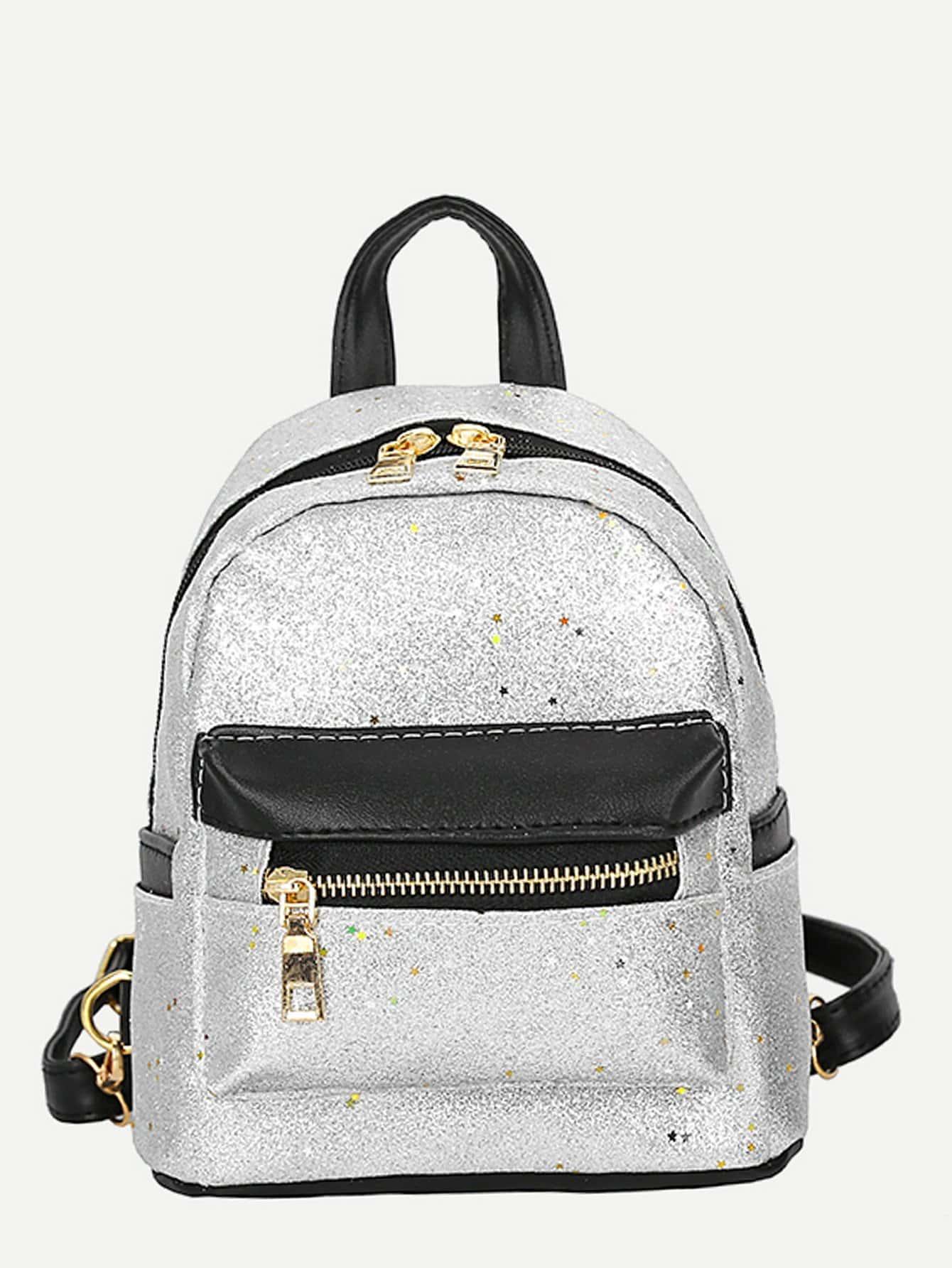 Star Glitter Detail Backpack star detail visor