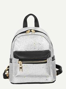 Star Glitter Detail Backpack