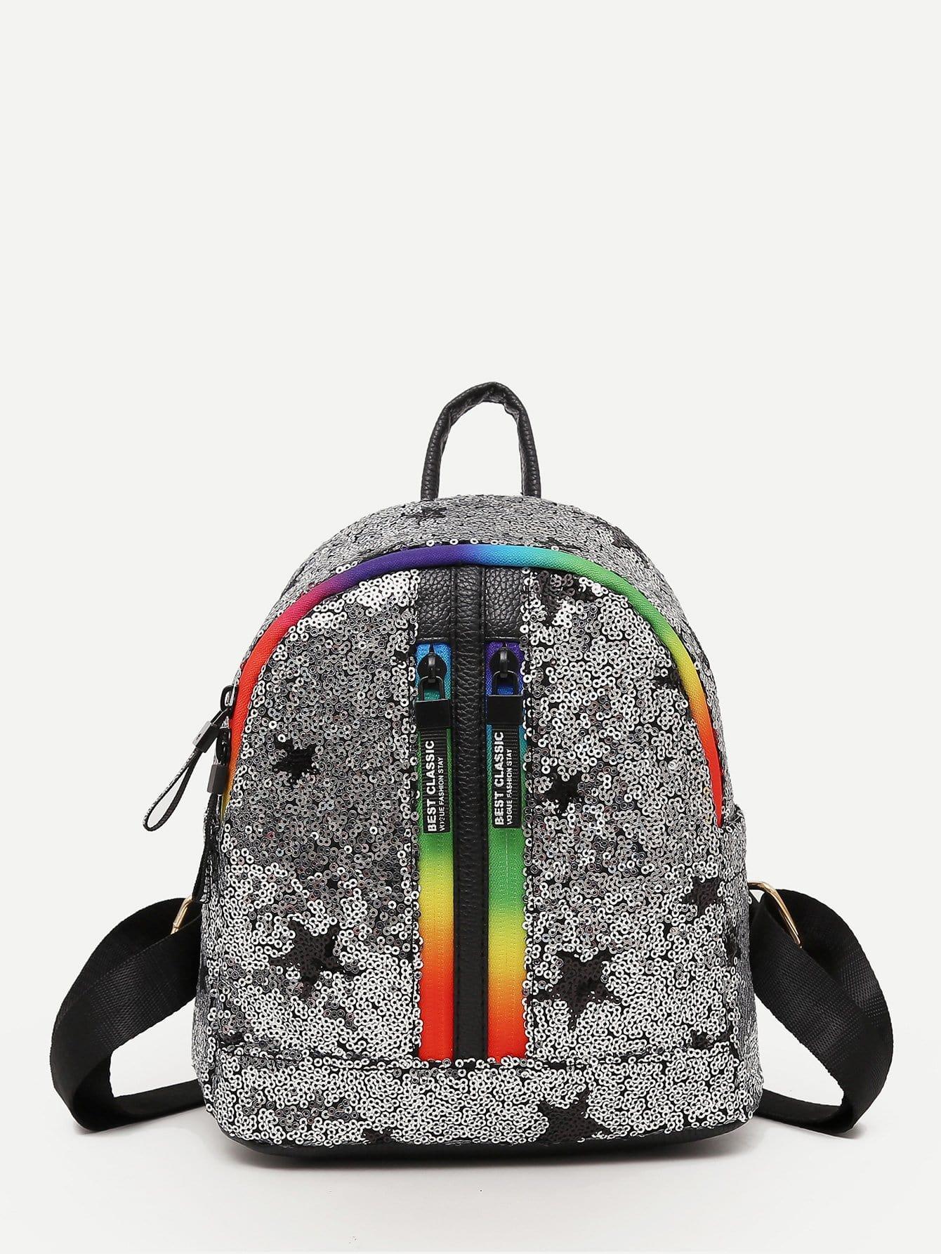Sequin Decor Star Backpack