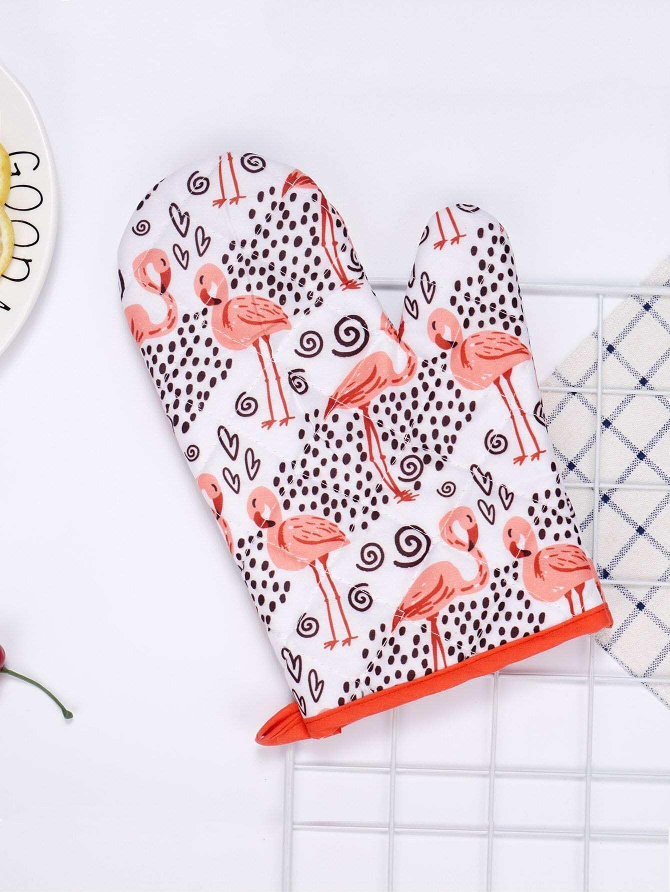 Flamingo Print Oven Glove alex clark rooster double oven glove