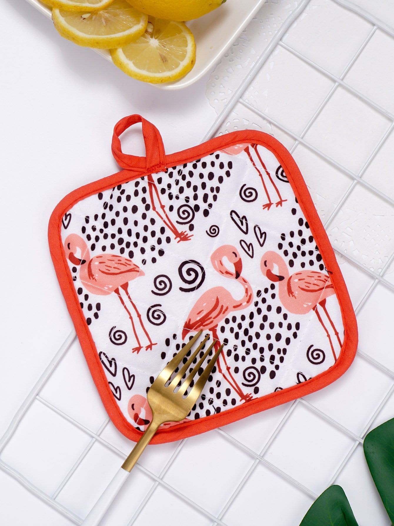 Flamingo Print Table Mat