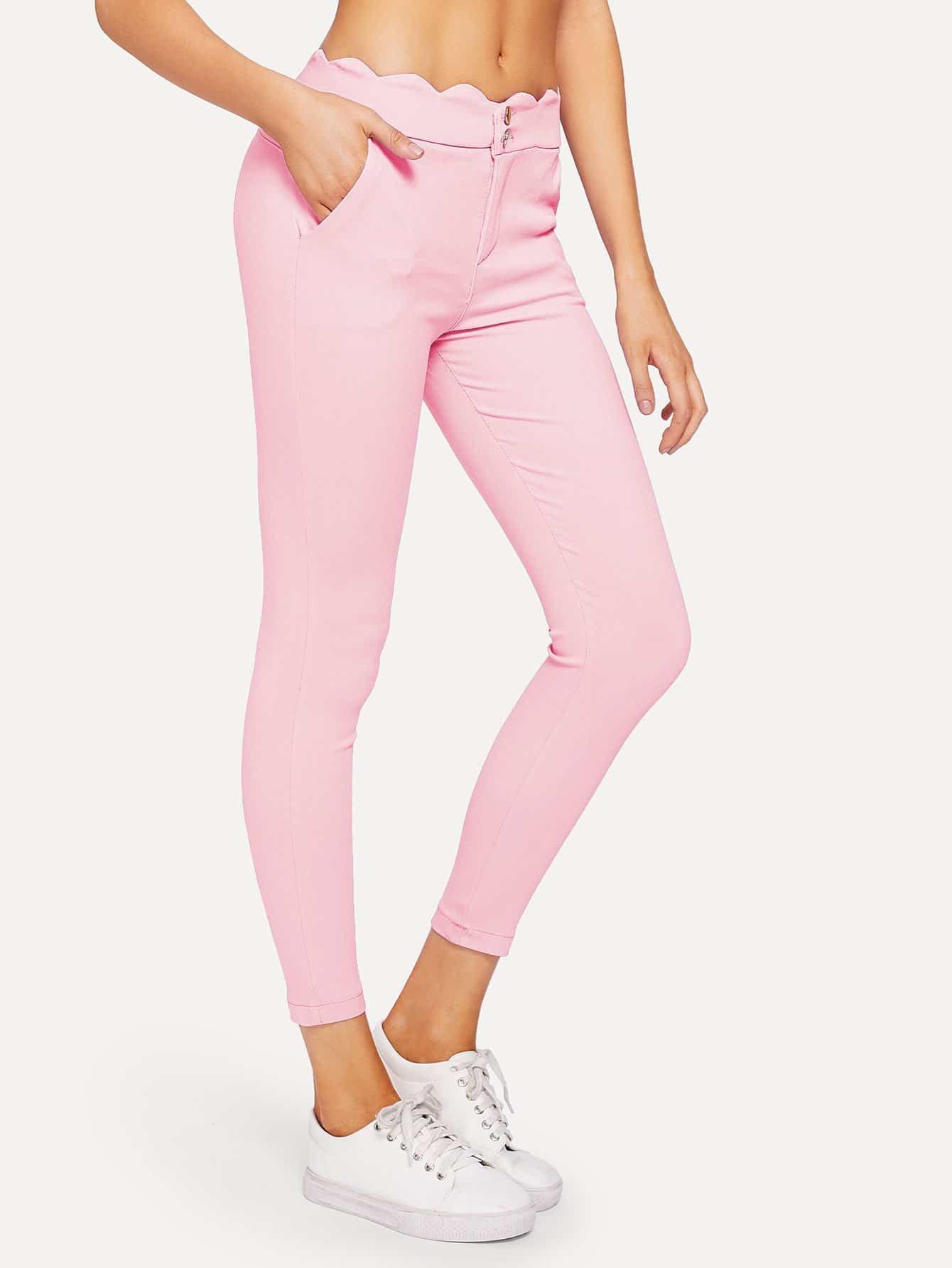 Купить Твердые тощие джинсы-пуговицы, Sasa, SheIn
