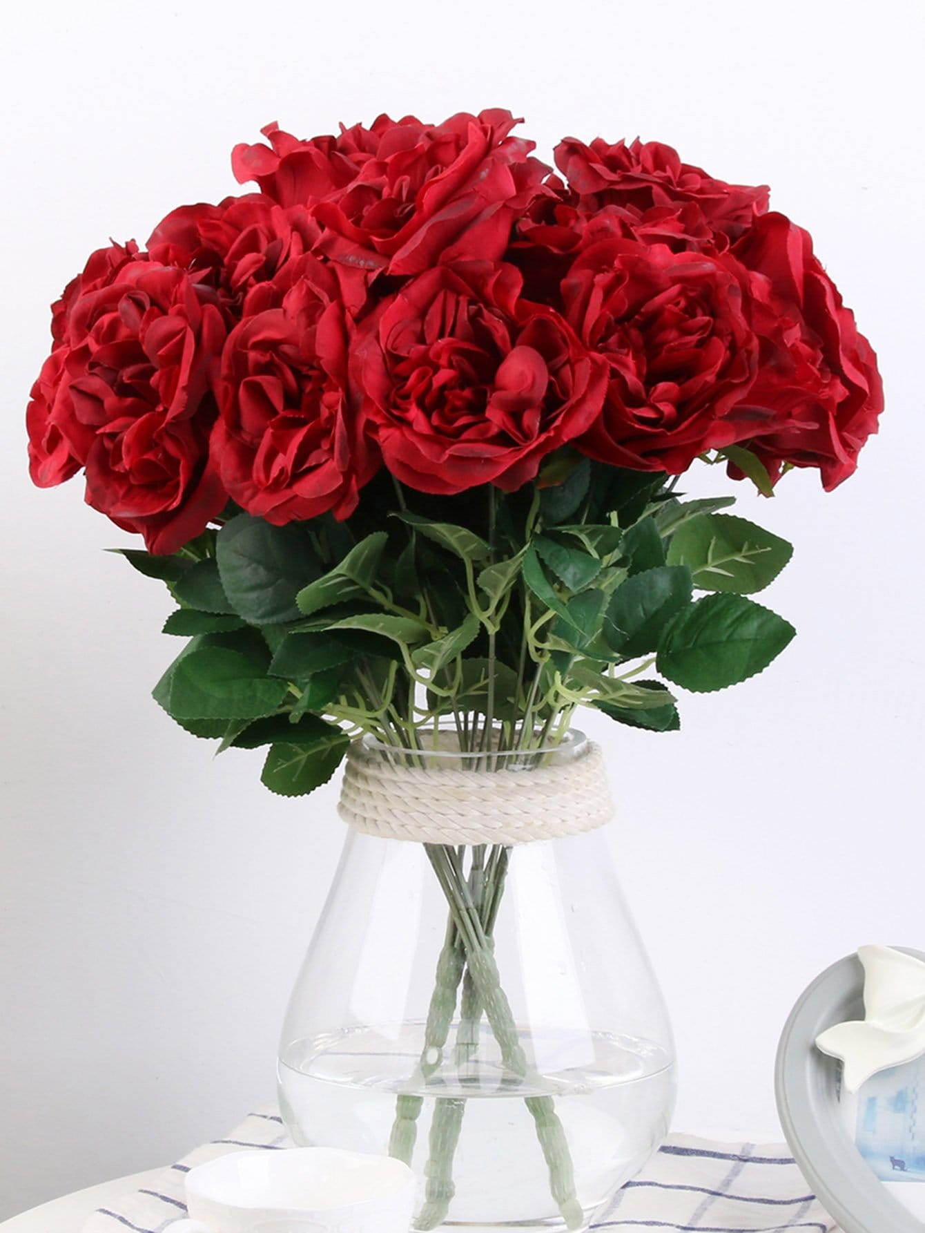 Artificial Flower Bunch With 7pcs Rose artificial flower bunch with 9pcs rose