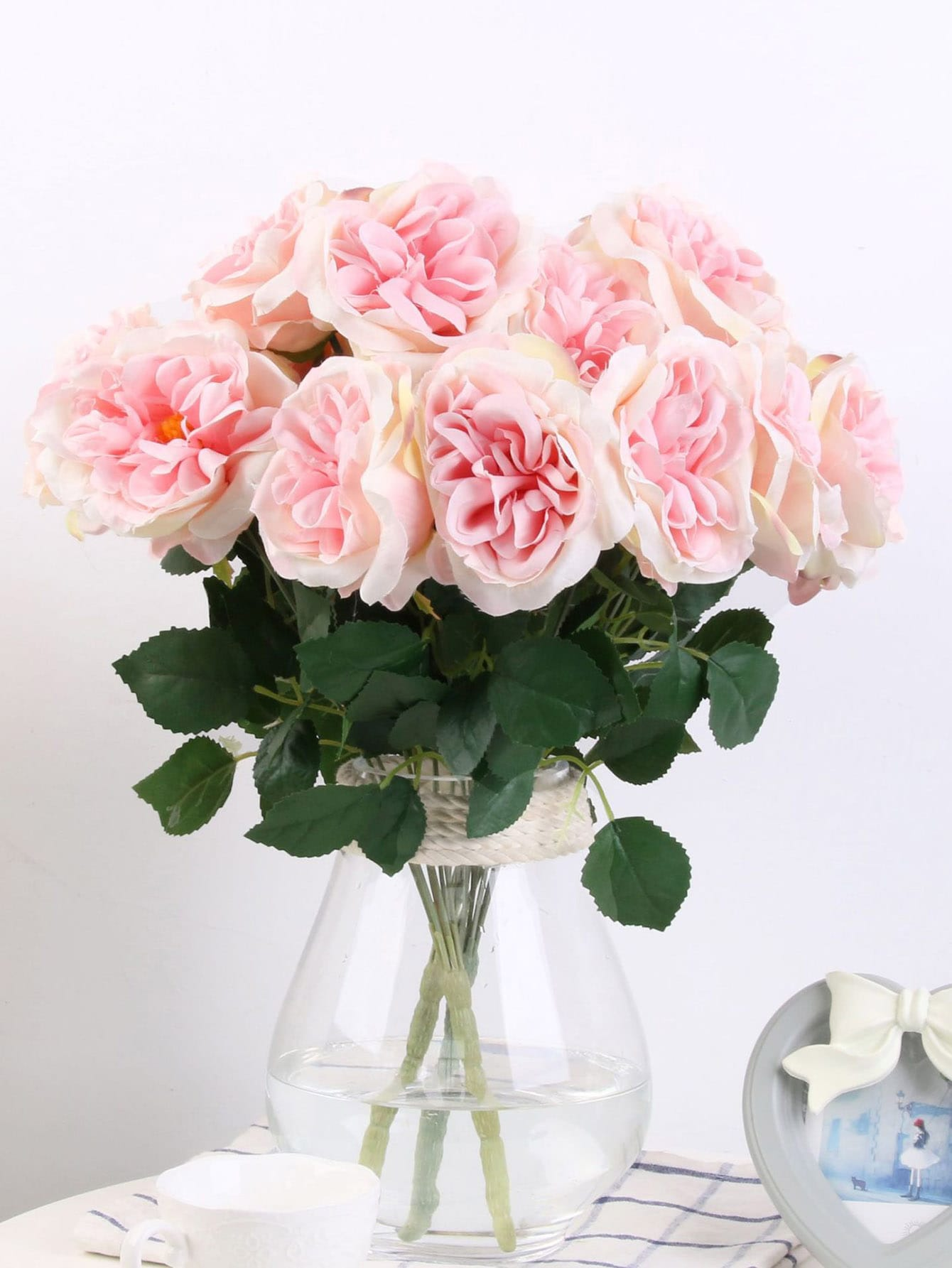 Artificial Flower Bunch With 7pcs Rose artificial bunch with 11 branches
