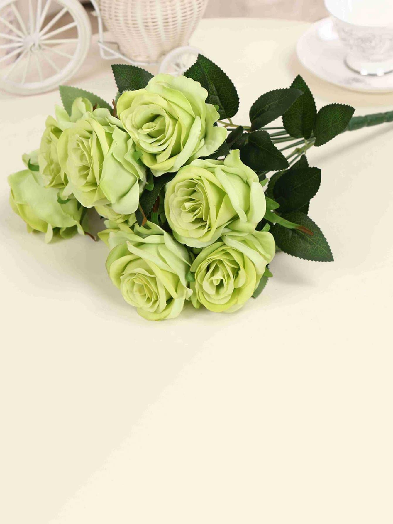 Artificial Flower Bunch With 9pcs Rose artificial bunch with 11 branches