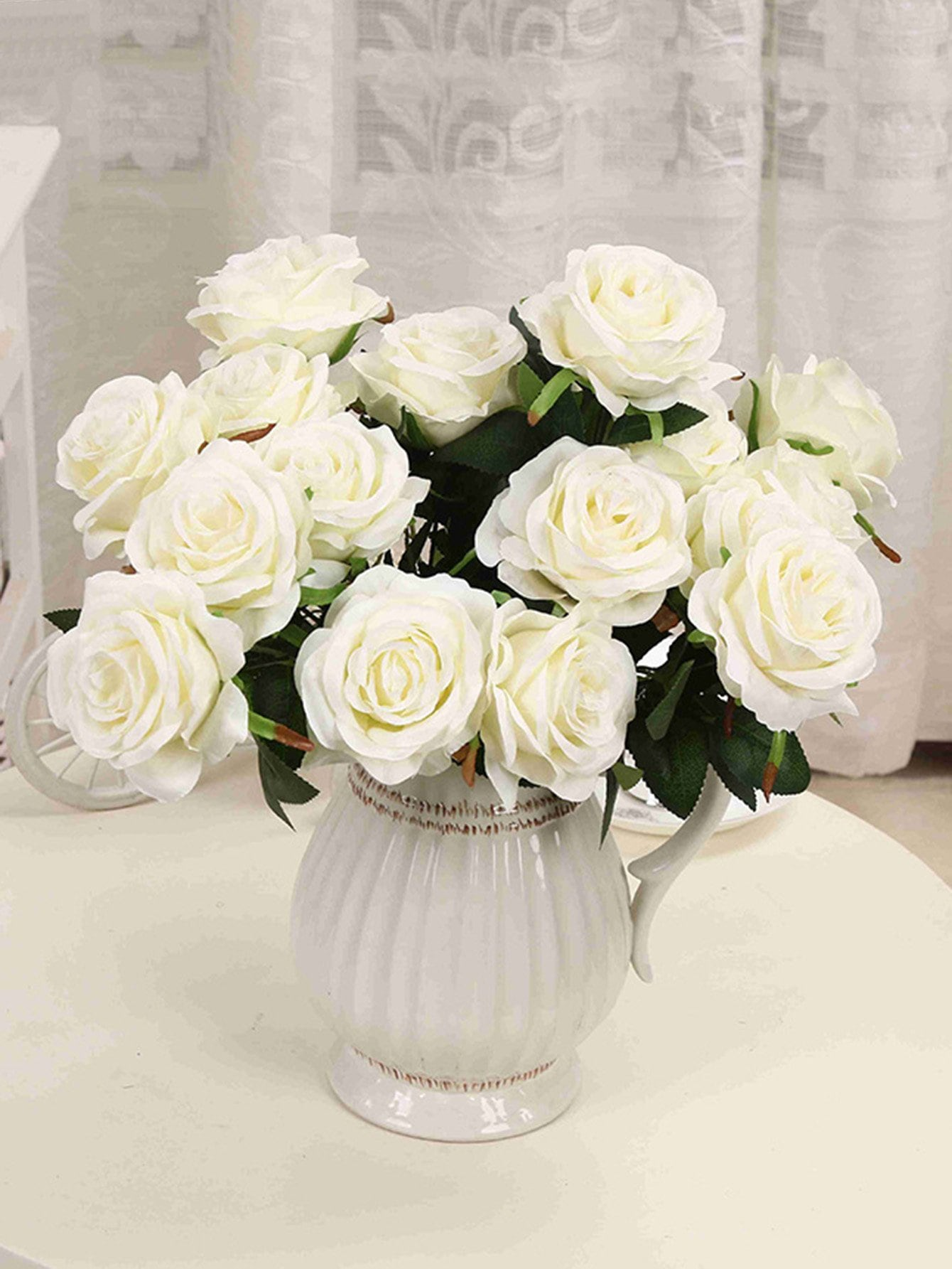 Artificial Flower Bunch With 9pcs Rose цены