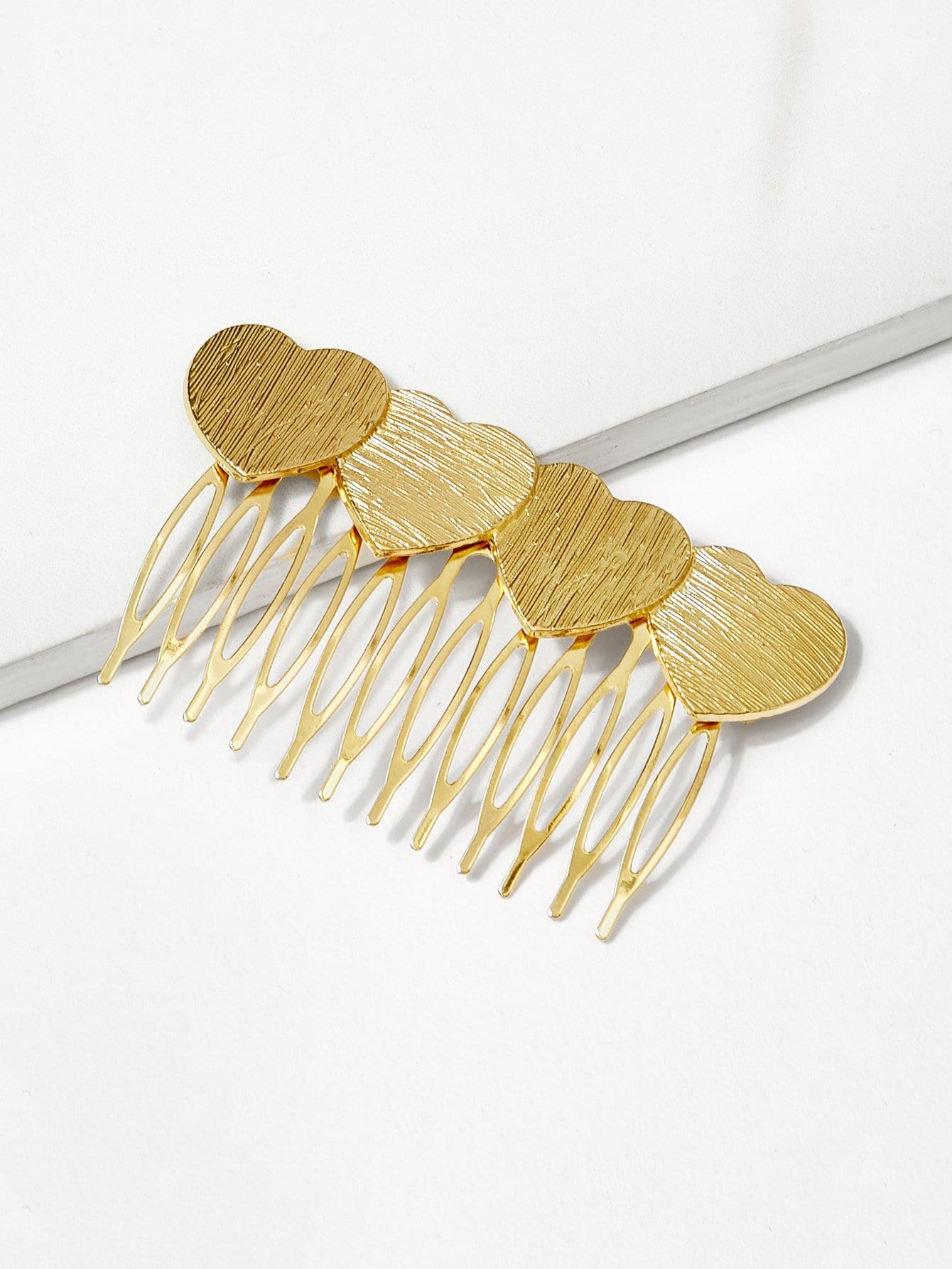 Heart Shaped Metal Hair Comb